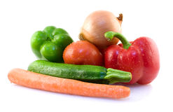 Assorted fresh vegetables. On white background Royalty Free Stock Photo