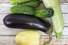 Assorted fresh vegetables. The close up of assorted fresh vegetables Royalty Free Stock Image