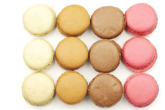 Assorted freshly baked macarons Royalty Free Stock Photo