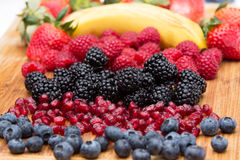 Assorted freshly washed fruit in the kitchen Royalty Free Stock Photos