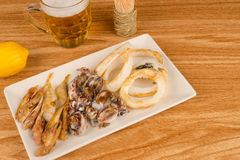 Assorted fried fish tapa Stock Photos