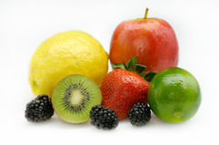 Assorted fruit arrangement Stock Photos