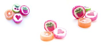 Assorted fruit candy. Royalty Free Stock Photo