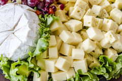 Assorted Fruit and Cheese Tray Royalty Free Stock Image
