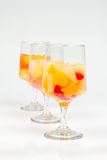 Assorted Fruit Cocktails. With Cherry Mixed Fruit, Tropical Fruit and Citrus Fruit stock images