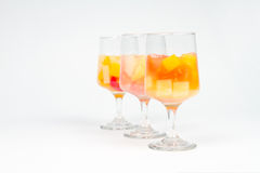Assorted Fruit Cocktails Royalty Free Stock Photography