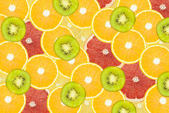 Assorted fruit. Cut into thin slices Royalty Free Stock Images