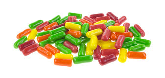 Assorted fruit flavor chewing gum Stock Photo