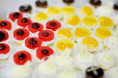 Assorted fruit jelly cakes Royalty Free Stock Photography