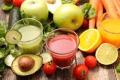 Assorted fruit juice Stock Image