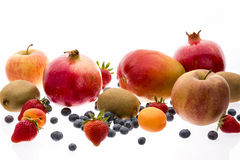 Assorted Fruit With Multivitamin Powers Royalty Free Stock Photography