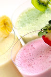Assorted fruit smoothies Stock Photo