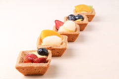 Assorted fruit tarts Royalty Free Stock Photography
