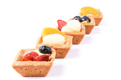 Assorted fruit tarts isolated on white - series 2 Royalty Free Stock Photo