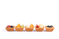 Assorted fruit tarts isolated on white - series 4 Royalty Free Stock Photography