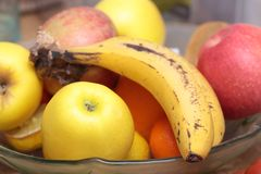 Assorted fruit on a tray royalty free stock photography