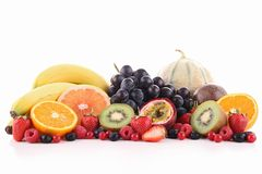 Assorted of fruits Stock Images