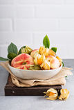 Assorted fruits in a big bowl Stock Images