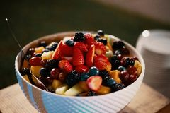 Assorted Fruits on Bowl stock images