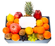 Assorted fruits in the box Stock Photo