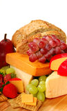 Assorted fruits and cheeses Royalty Free Stock Image