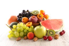 Assorted of fruits. Close up on assorted of fruits royalty free stock images