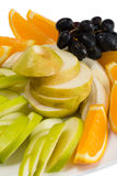 Assorted fruits of orange, apple, grapes, pears Royalty Free Stock Photos