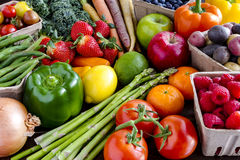 Assorted Fruits and Vegetables Background Royalty Free Stock Image
