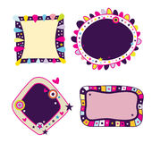 Assorted Funky Frames. Four colorful frames with stars and bright colors. So much fun Royalty Free Stock Images