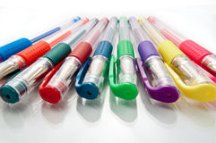 Assorted gel pens Royalty Free Stock Image