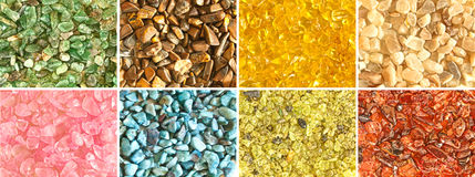 Assorted gemstone montage Stock Photography
