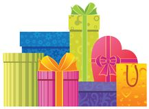 Assorted gift boxes Royalty Free Stock Photography