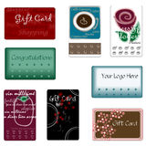 Assorted Gift Cards. Assorted gift-cards and punch-cards drawn in Illustrator CS2 Royalty Free Stock Photography