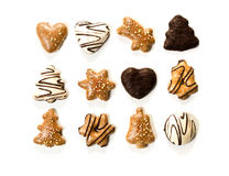 Assorted gingerbread christmas cookies Royalty Free Stock Photography