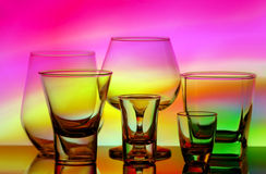 Assorted glassware Royalty Free Stock Photo