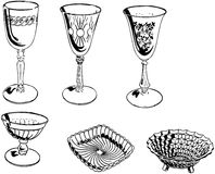 Assorted Glassware Royalty Free Stock Images