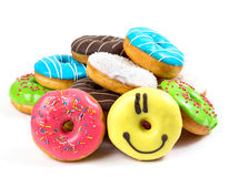 Free Assorted Glazed Doughnuts In Different Colors Stock Photos - 58809943
