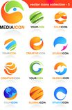 Assorted globe icons. An assortment of colourful globe icons and logos Stock Photos