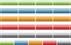 Assorted Glossy Metallic Menu Bars Stock Images