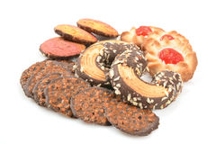 Assorted gourmet cookies Royalty Free Stock Photo