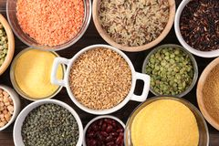 Assorted grain and cereal stock images