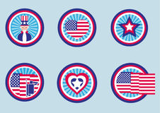 Assorted Graphic Designs for US Labels. Pictogram / flat design style Stock Photography