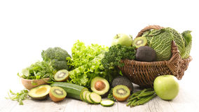 Assorted green vegetables Stock Images