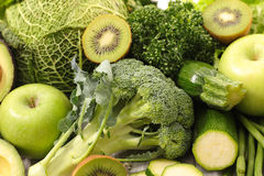 Assorted green vegetables Stock Photo