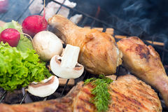 Assorted grilled meat Stock Image