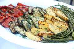 Assorted grilled vegetables. On a plate Royalty Free Stock Photos