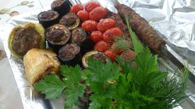 Assorted grillte stockbild