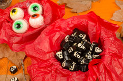 Assorted Halloween candy Stock Photography
