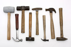 Assorted hammers Royalty Free Stock Images