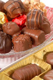Assorted hand dipped chocolates Stock Photography